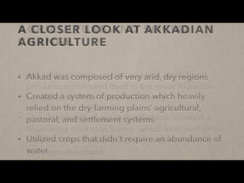 Sumerian and Akkadian Agriculture