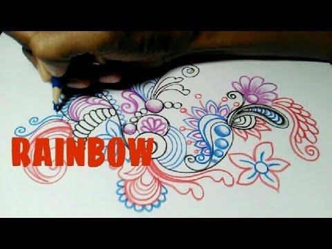 Rainbow Gradasi Warna Menggunakan Pensil Warna Youtube