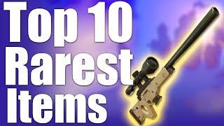 TOP 10 RAREST ITEMS IN FORTNITE