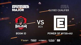 BOOM ID vs MYSG, EPICENTER Major 2019 SA Closed Quals , bo3, game 1 [Mila & Mortalles]