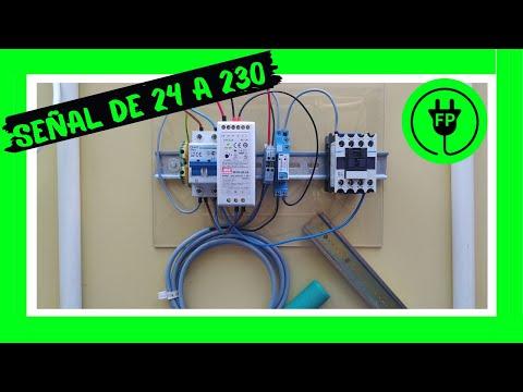 Convertir señal DIGITAL de SENSOR de 24 VDC en continua a SEÑAL ALTERNA  230 VAC ⚡⚡⚡ DC➡️AC