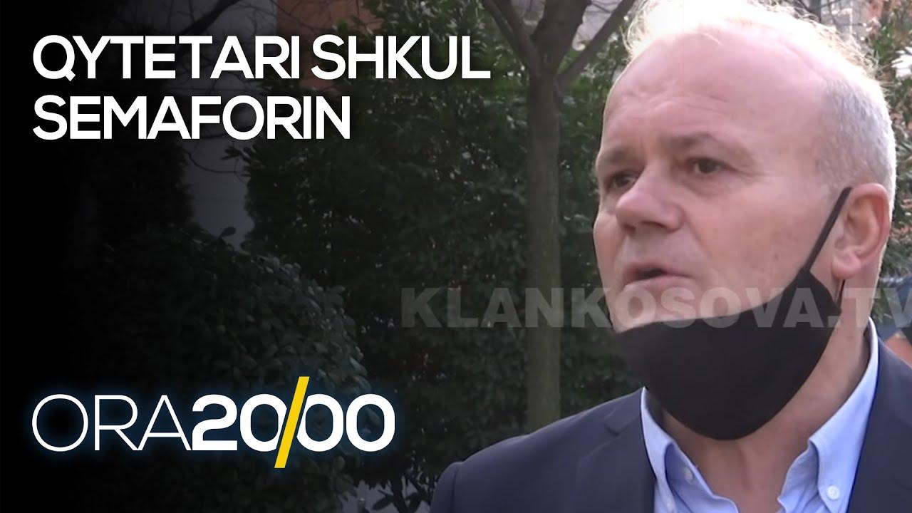 Mitrovicë: Qytetari shkul semaforin dhe e hedh në shesh - 27.02.2021 - Klan Kosova