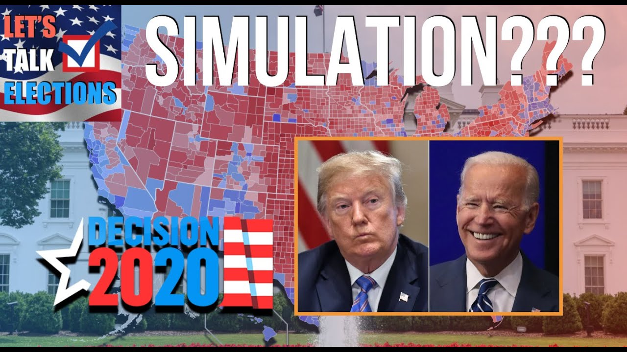 5 Random 2020 Presidential Election Results from a Simulator