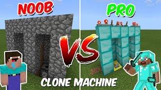 NOOB vs PRO : CLONE MACHINE   Minecraft PE