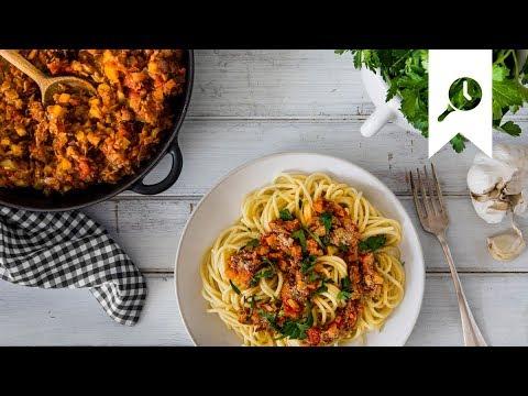 Vegetarische Spaghetti Bolognese I Rezept Mit Soja Hack Edeka
