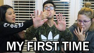 2 GIRLS 1 GUY, MY FIRST TIME EVER!! (The Chubby Bunny Challenge)