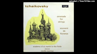 Tchaikovsky : Souvenir de Florence in D minor Op. 70 (1890 rev. 1892) performed by string orchestra