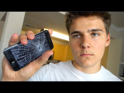 HIS IPHONE 7 BROKE!!