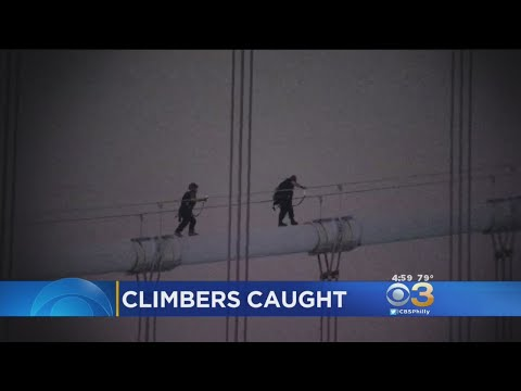 2 Men Stop Traffic On Ben Franklin Bridge After Climbing Tower