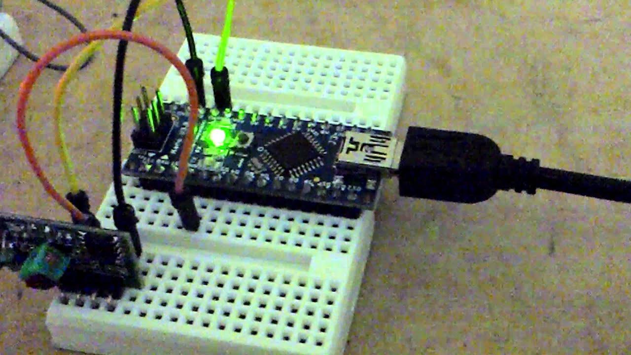 Arduino mini y modulos tx rx mhz youtube