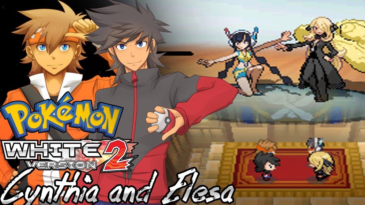 Pokemon White 2 Hack: Vs. Cynthia and Elesa - YouTube