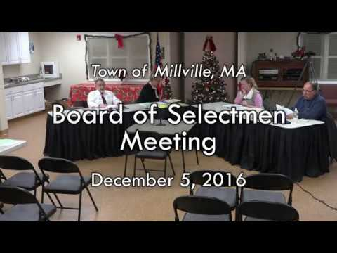 Board of Selectmen - December 5, 2016