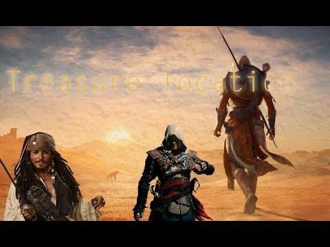 Assassin's creed Origins - Dead man tell no tales treasure location [ Easter egg ? ]