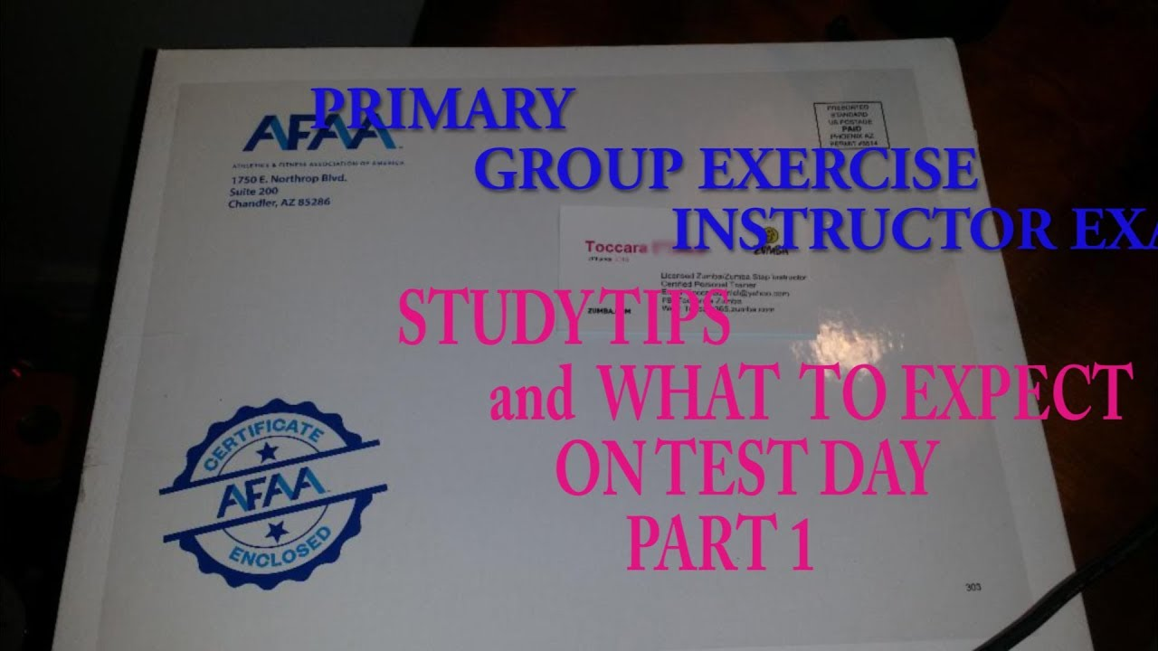 PASS FAST! AFAA GROUP EXERCISE INSTRUCTOR CERTIFICATION - YouTube
