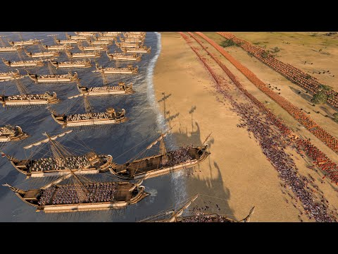 MASSIVE NAVAL LANDING - Total War ROME 2
