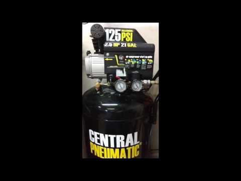 harbor-freight-21-gallon-air-compressor-setup-(surprise-ending)