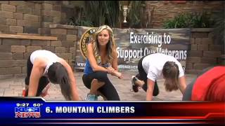 KUSI Cindy Whitmarsh - Military Workout! EX 4 Vets