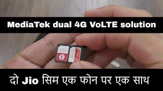 GHz dual 4G VoLTE oplossing - een paar Jio SIM in een telefoon te nemen van een metgezel