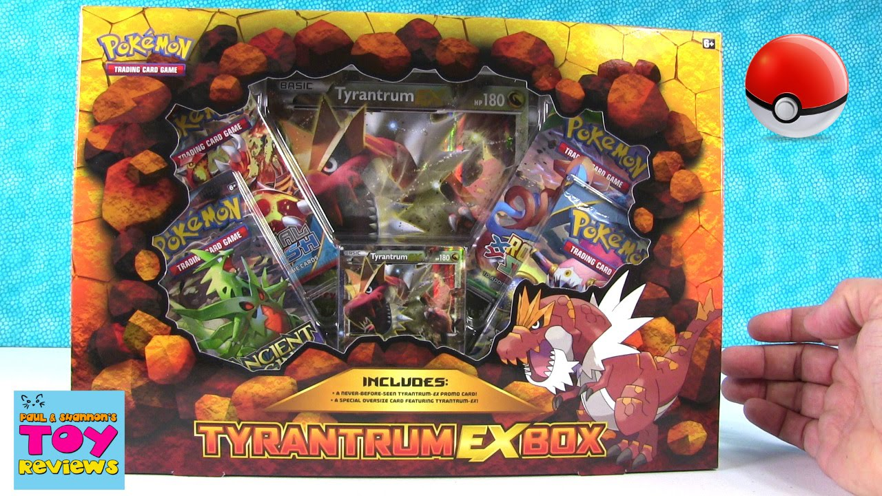 Trading Card Thursday Pokemon Tyrantrum Ex Box Pack Opening Unboxing Pstoyreviews