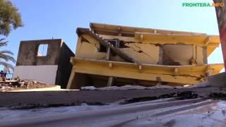 Colapso de casas en Camino verde Tijuana /3 de marzo de 2017