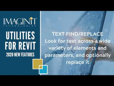 Utilities for Revit: Text Find Replace