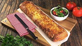 Lasagne mal anders - Rezept für Lasagne im Brot! Ein buchstäbliches Abendbrot!