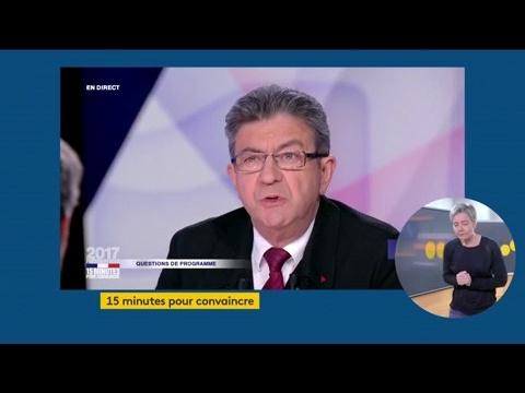 """Jean-Luc Mélenchon dans """"15 minutes pour convaincre"""" sur France 2"""