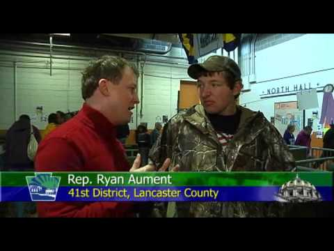 Rep. Aument Interviews Cameron Long at the Farm Show