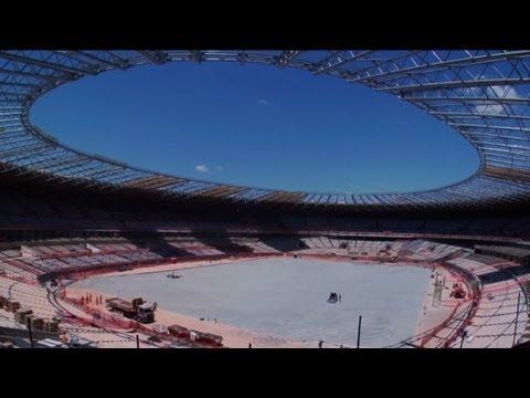 Work in progress on Brazil's Belo Horizonte stadium
