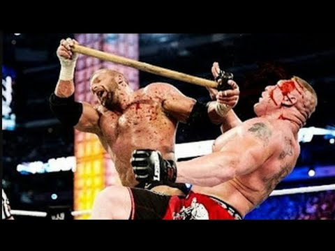 WWE bloodiest matches: Brock lesnar vs triple H