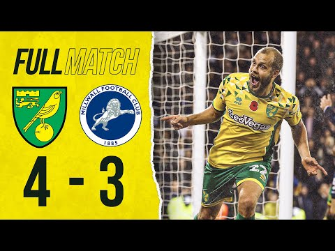 FULL REPLAY | Norwich City 4-3 Millwall | The Canaries Fight Back From Behind In Added Time! | 2018
