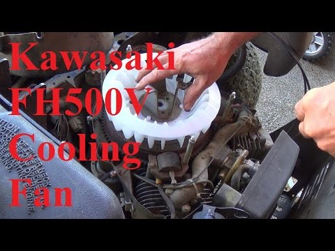 kawasaki fh500v cooling fan replacement 17hp - youtube