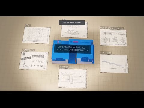 The 3D BIM Software for Concrete Construction: Tekla in 5mins