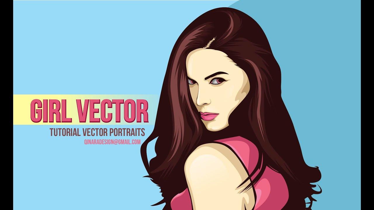 Tutorial Vector Portraits 4 PATH using adobe illustrator
