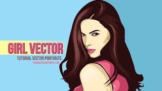 Tutorial Vector Portraits (4 PATH) using adobe illustrator - Girls Vector