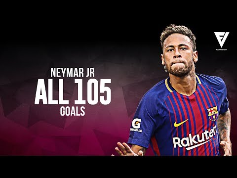 Neymar Jr - All 105 Goals For FC Barcelona - Welcome To PSG - 2013 - 2017 HD