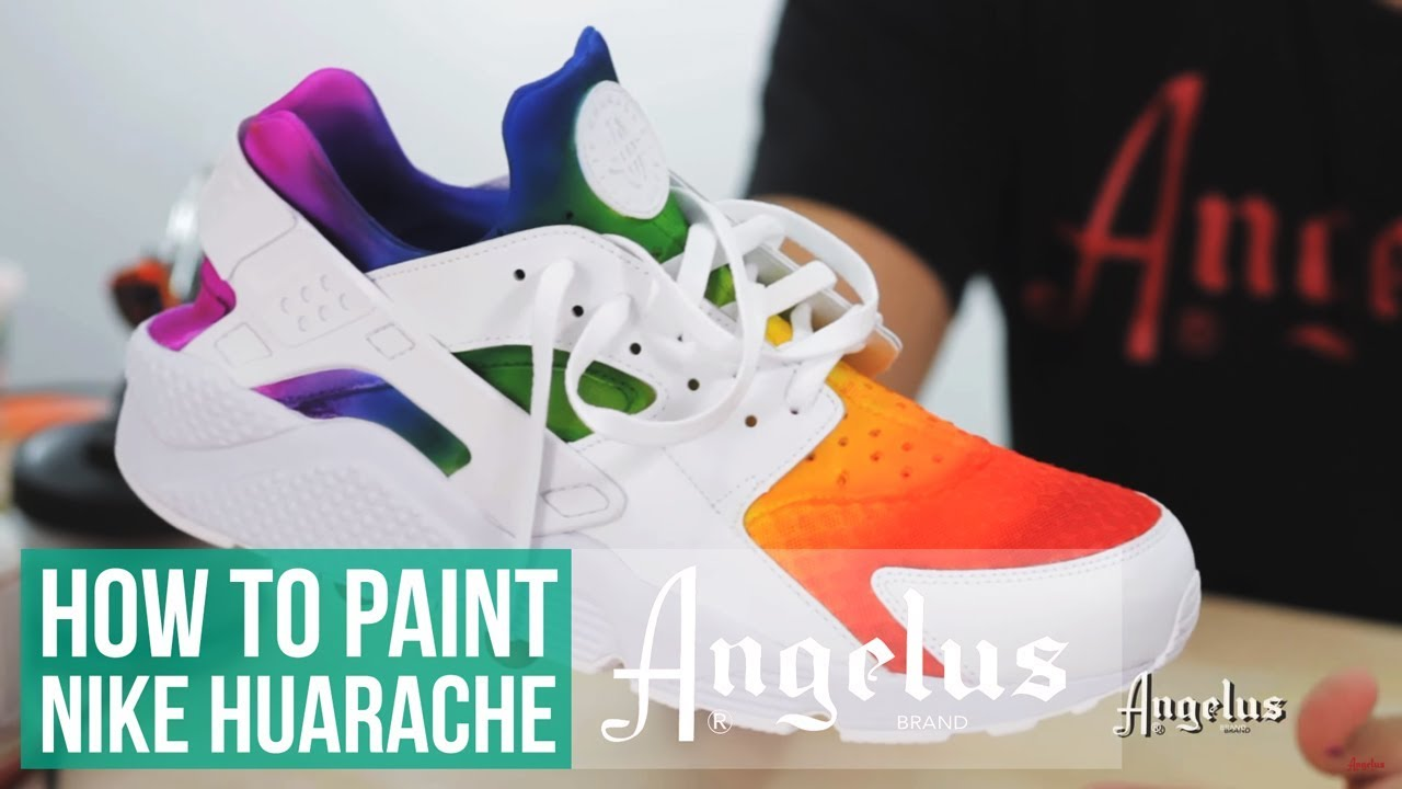 pretty nice 8b1c0 2cf64 Custom Huarache | How to Airbrush a Rainbow Fade | Angelus Paint