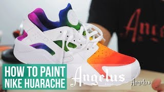 Video Rainbow Huarache | How to do an airbrush fade with Angelus Paint download MP3, 3GP, MP4, WEBM, AVI, FLV Agustus 2017