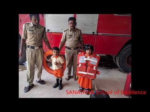 Children visiting fire station and post office || SANATANA School of Excellence .
