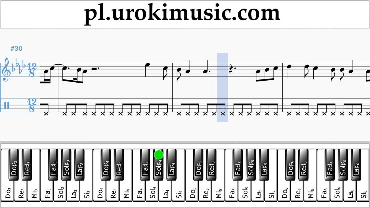 Inne rodzaje Nauka Gry Na Fortepianie (prawa ręka) Ed Sheeran - Perfect Nuty LB16