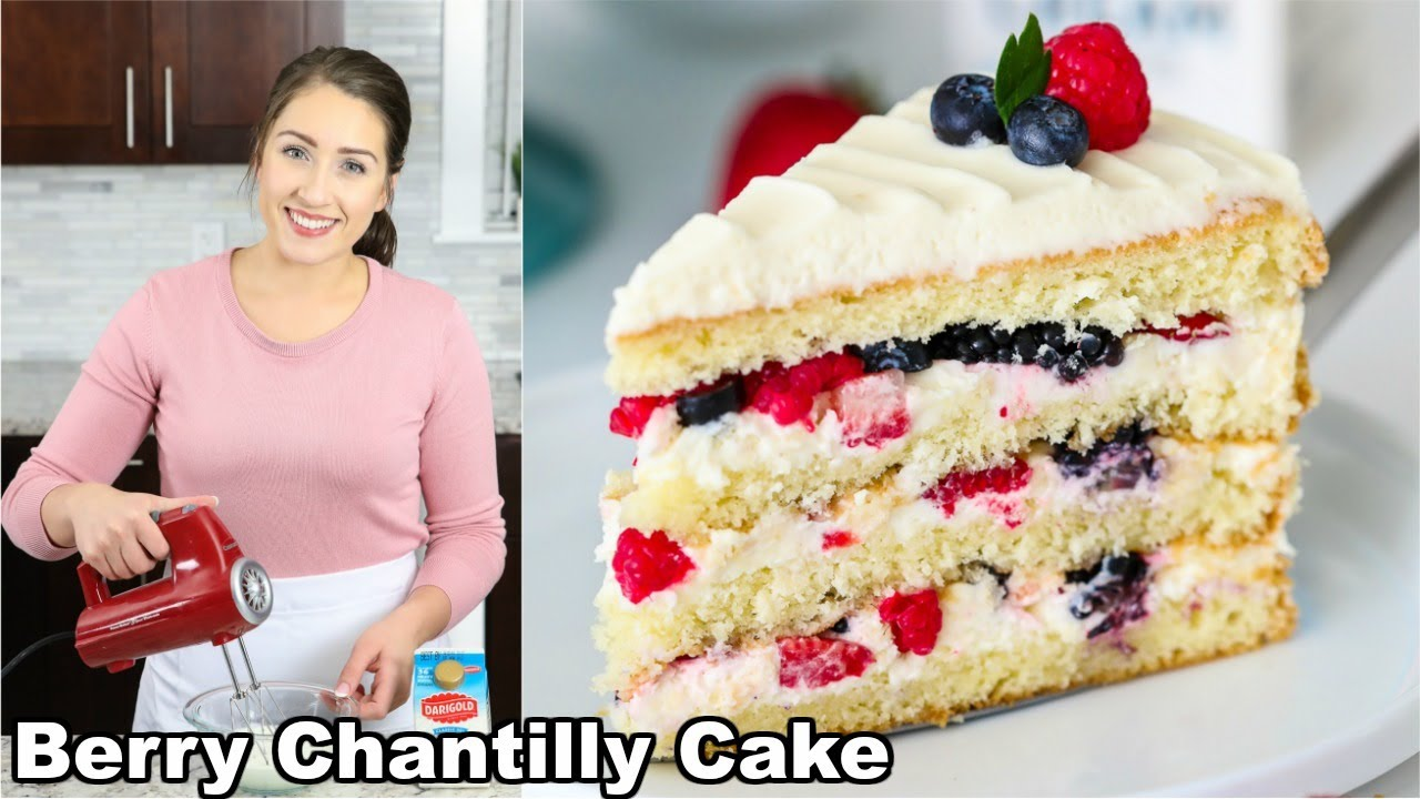 Berry Chantilly Cake Youtube