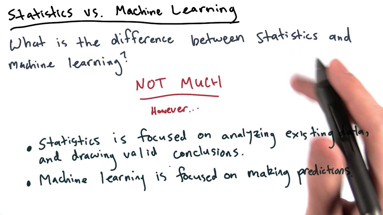 statistical learning vs machine learning