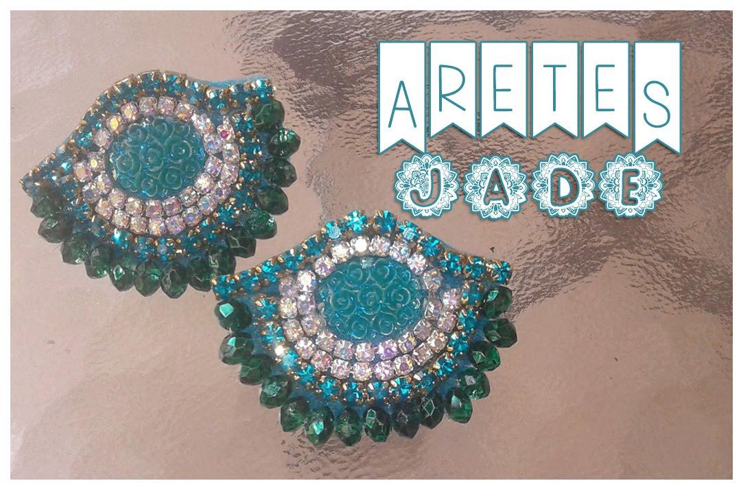 Aretes Jade , Bisuteria con Kath Craft,