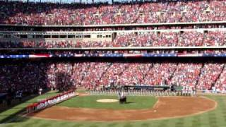 Texas Rangers vs Tampa Bay Devil Ray - ALDS Game 3 - National Anthem and F-16 Flyover
