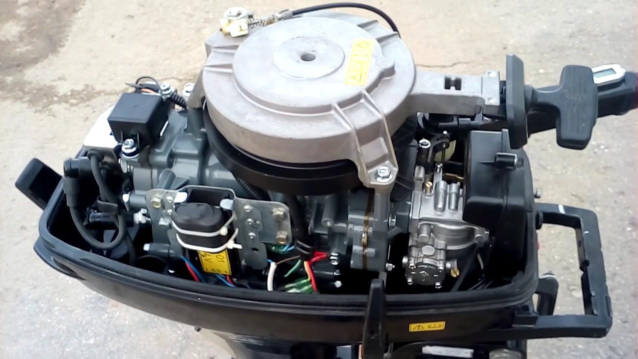 как запустить лодочный мотор ханкай