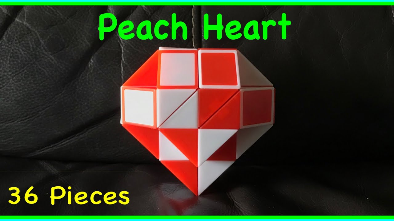 35530bc519c9d Rubik's Twist 36 or Snake Puzzle 36 Tutorial: How to Make a Peach Heart  Shape Step by Step