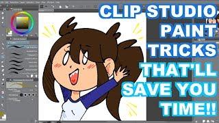 Clip Studio Paint Time Savers!!