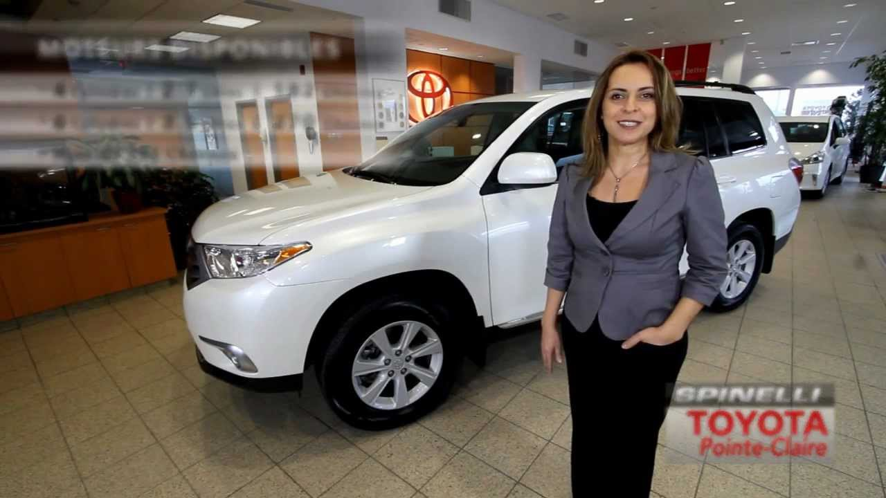 Toyota Pointe Claire >> Toyota Highlander 2012 Spinelli Toyota Pointe Claire