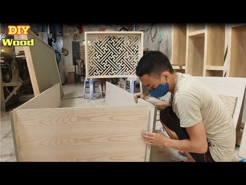Creative making wooden cabinets for books and notebooks | DIY Wood