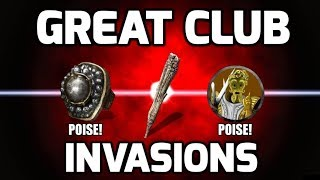Dark Souls 3 Great Club Invasions - Gankers Can't Handle The Poise